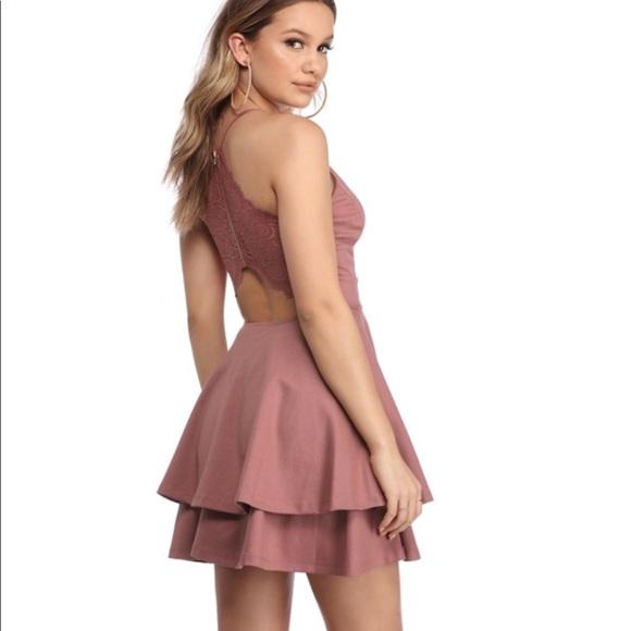 7cb15ea7ab254 Windsor late night fantasy pink lace back dress. M_5b5bf940e9ec893b9854134e